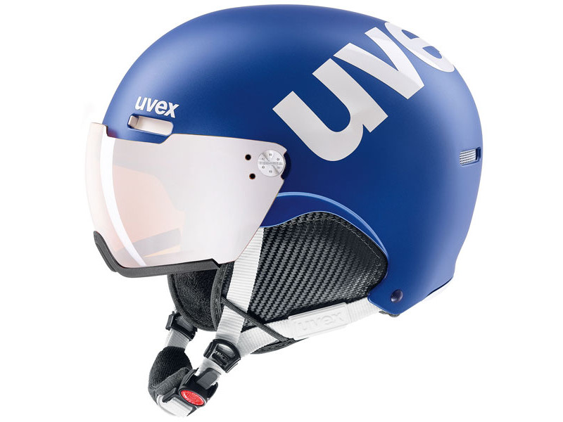 Kask z przyłbicą szybą Uvex Hlmt 500 Visor Cobalt white mat / Litemirror Silver 2019 najlepsza cena