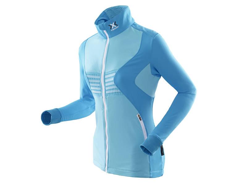 Bluza damska z pełnym zamkiem X-Bionic RACOON FULL ZIP Blue A425 2019 najlepsza cena