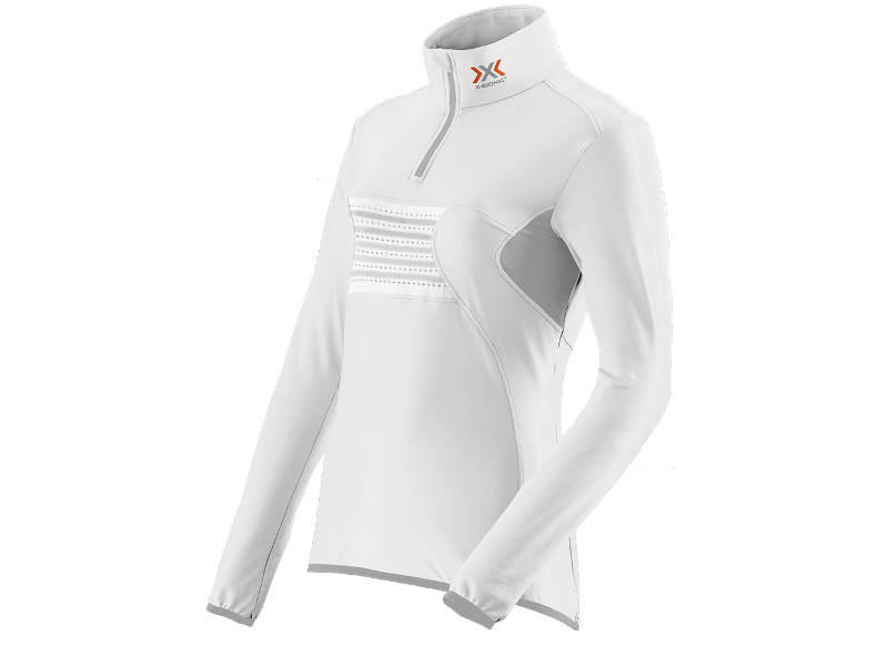 Bluza damska z krótkim zamkiem X-Bionic RACOON FULL ZIP UP UPD White Grey W106 2019 najlepsza cena