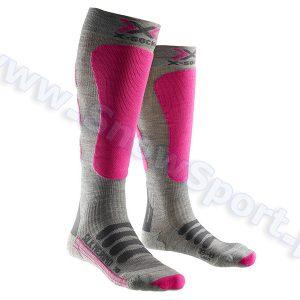 Skarpety X-Socks Ski Silk Merino Lady grey fuchsia najlepsza cena